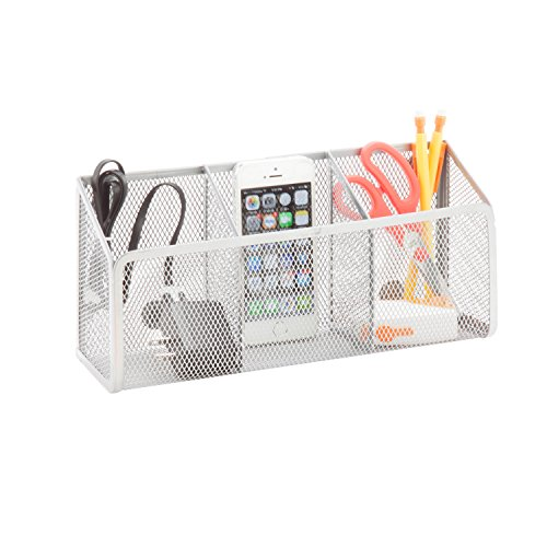 honey-can-do-bts-06576-excessory-magnetic-mesh-3-slot-holder-bin-silver-1063l-x-335w-x-492h