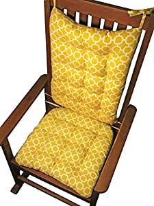 Porch Rocker Cushion Set Hockley Yellow
