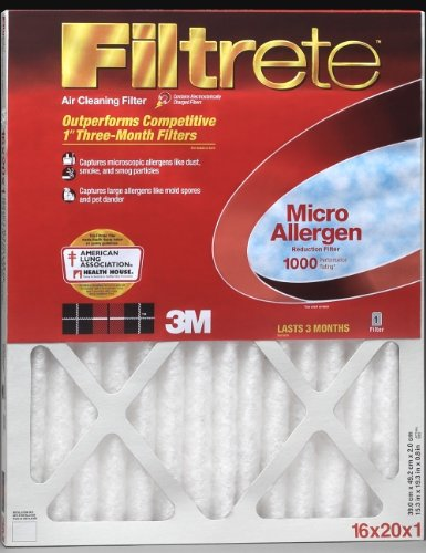 3M Filtrete MA20X24 20x24x1 - 19.7 x 23.7 Filtrete 1000 Filter by 3M Pack of - 2 (Filtrete 20x24x1 Air Filter compare prices)