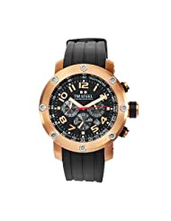 TW Steel Men's TW130 Grandeur Tech Black Rubber Chronograph Dial Watch