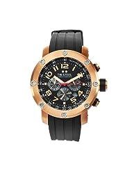 TW Steel Men's TW130 Grandeur Tech Black Rubber Chronograph Dial Watch