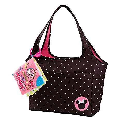Disney Minnie Mouse Large Tote with Crinkle Toy Book, Black - 1