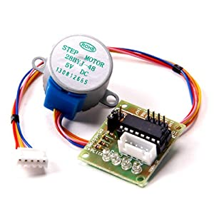 RioRand Stepper Motor 5V DC 4-Phase 5-Wire with ULN2003 Driver Board from RioRand