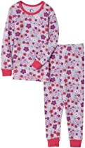 Gerber Bunny in Flowers Thermal Underwear Two Piece, Light Violet, 24 Months
