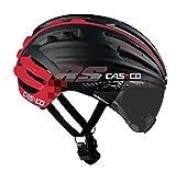 CASCO(カスコ) 自転車 ヘルメット SPEEDairo RS 調光レンンズバイザー付 ブラック×レッド 1509 ブラック×レッド L5963