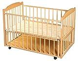 サワベビー D型ジョルノ ナチュラル No.1 ロングユースベッド ベビーベッド キッズベッド 添い寝ベッド 0歳 床板に国産ひのきを使用 日本製 ランキングお取り寄せ