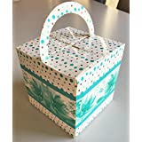 RELIABLE PACKAGING CUPCAKE BOX/ GIFT BOX/ CHOCOLATE BOX/ COOKIES BOX - BLUE With HANDLE - Pack Of 10