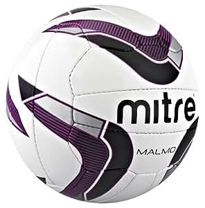 Mitre Malmo Ballon d'entraînement Blanc/Violet/Noir Taille 5