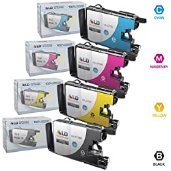 LD © Compatible LC75 Bulk Set of 4 High Yield Ink Cartridges: 1 Black & 1 each of Cyan / Magenta / Yellow