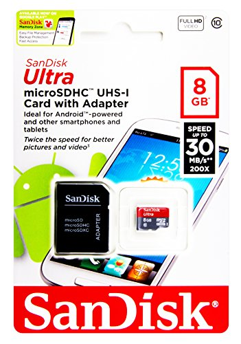 45MB/s High Speed Memory Card Micro SD für für Samsung Galaxy S3 Mini i8190 - 8GB SanDisk Ultra UHS-I 45MB/s - microSDHC TF Speicher-Karte Speichermedium Speichererweiterung
