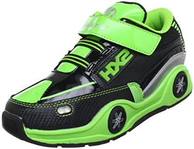 Heelys SPIN 7906, Unisex-Kinder Sneaker, Grün (Lime Green/Black/Metallic Silver), EU 30