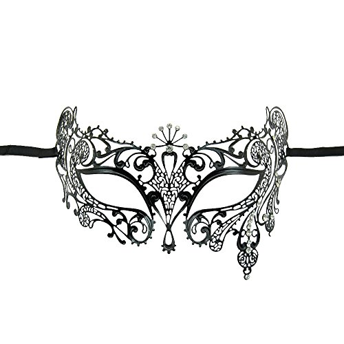 Yiding Venetian Mask Sun Goddess Metal Filigree Rhinestone Masquerade Ball Party