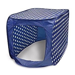 Blue Polka Dot Pop Up Canopy to Hide Litter Box