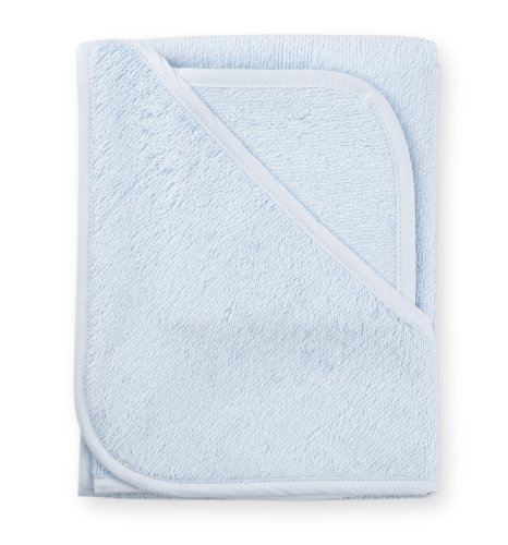 American Baby Company 3100-BL Cotton Terry Hooded Towel Set (Blue)