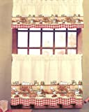 51RseSWKXLL. SL160  Chefs   24 tier (pr) Kitchen Curtain