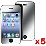 EMPIRE 5 Pack of Mirror Screen Protectors for Apple iPhone 4 [EMPIRE Packaging]