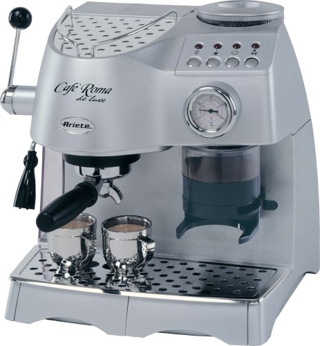 Lello 45920 Ariete Cafe Roma Deluxe Espresso/Cappuccino Maker with Built-In Coffee Grinder www ...