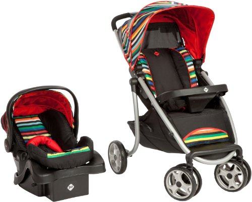Safety 1st Sleekride LX Travel System, London Stripe - 1