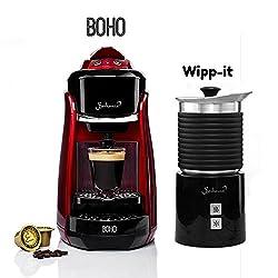 Bonhomia Boho Wipp It 1300-Watt Espresso Machine (Red)