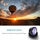 Luxsure® Universal 4 in 1 Camera Lens Kit Fish Eye Lens + 2 in 1 Macro Lens + Wide Angle Lens + CPL Lens for iPhone 6/6 Plus/6s/6s plus/5/5S/4/4S,iPad Air/Mini,Samsung Galaxy/Note,Sony Xperia(Black)