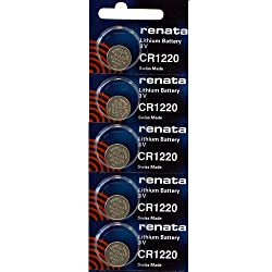 CR1220 Lithium Coin Cells - Strip of 5 Batteries