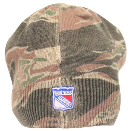 Reebok NHL Camo Bill Front Knit Hat / Beanie - New York Rangers at Amazon.com