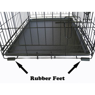 Large Go Pet Club Triple-Door Dog Crate Kennel Cage With Rubber Feet For Big Pet Dogs - Durable Outdoor Travel Carriers Crates For Pets