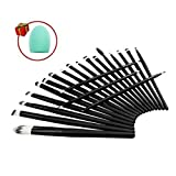Mily 20 Pcs Black Rod Makeup Brush Cosmetic Set Kit With A Makeup Brush Cleaner