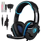 SADES Stereo Gaming Headphone with Microphone, Blue (SA-708 GT)