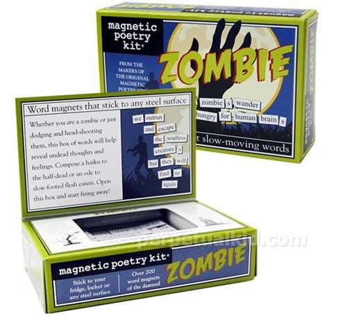 Zombie Magnetic Poetry Kit