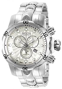 Invicta Men's 13896 Venom Analog Display Swiss Quartz Silver Watch