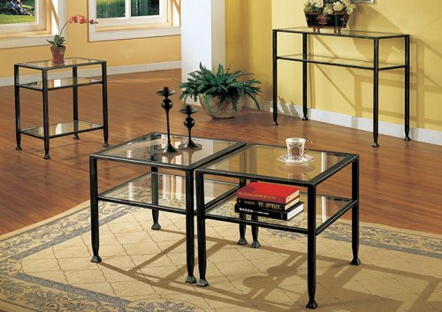 SEI Bunching Metal Sofa Table