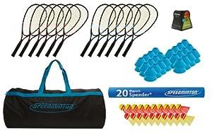 Speedminton® Set école Speedminton avec sac de sport Set école de Speedminton avec sac de sport Bleu-Noir
