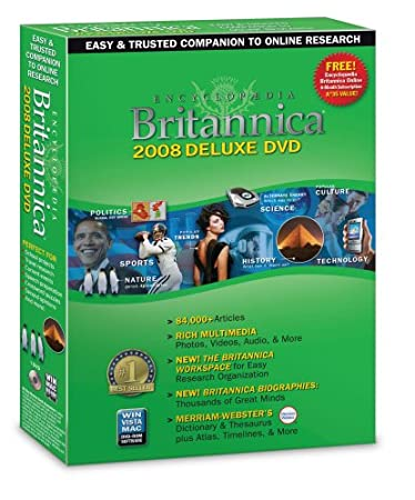 Encyclopedia Britannica Deluxe 2008 [OLD VERSION]