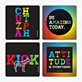 LetterNote Chutzpah Coasters - Set of 4