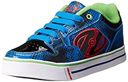 Heelys Motion Plus Skate Shoe (Little Kid/Big Kid), Blue/Black, 4 M US Big Kid