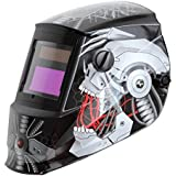 Antra AH6-260-6320 Solar Power Auto Darkening Welding Helmet with AntFi X60-2 Wide Shade Range 4/5-9/9-13 with Grinding Feature Extra lens covers Good for Arc Tig Mig Plasma CSA/ANSI Certified By Colts Lab