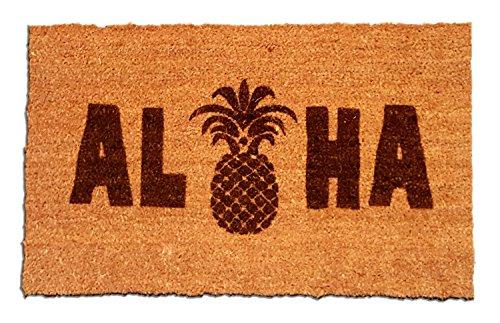 Coir-Fiber-Laser-Engraved-Doormat-30-x-18-Aloha-Pineapple