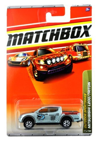 Mattel Year 2009 Matchbox MBX Outdoor Sportsman Series 1:64 Scale Die Cast Car #77 - Silver Color Lake Shawzee Compact Pick-Up Truck MITSUBISHI L200/TRITON (R5003) by Matchbox (1 64 Mitsubishi L200 compare prices)