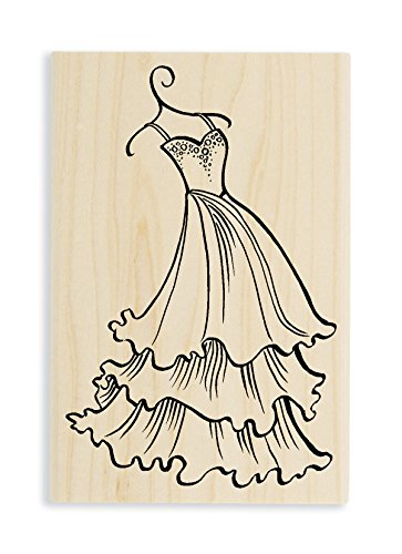 Stampendous Tiered Dress Rubber Stamp