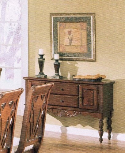Cheap Server Sideboard Brown Cherry Finish (VF_AM6396)