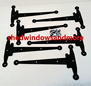 "Strap Hinge12"" Heavy Duty Shed Hinge (Set of 6) Gate Decorative Strap Hinge"