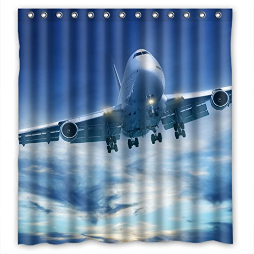 "Sale alerts for Malcolm-Fashion Splendid aircraft Shower Curtain Measure 66""(w)X72""(h) - Covvet"