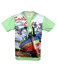 Tonyboy Boy's Cotton Green Short Sleeved T-shirt
