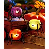Halloween Spider Tea Light Candle holders, Set of 3 – Price Drop – $9.96!