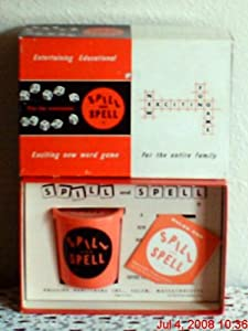 Vintage Spill and Spell Game 1959