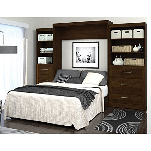 Video review bestar pur murphy wall bed with two 3 drawer attached storage units best gift tips - Beds attached to the wall ...
