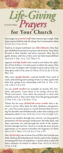 Life-Giving Prayers for Your Church 50-pack