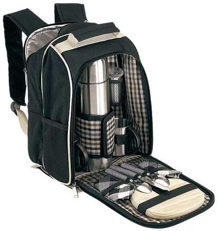 picknickrucksack picknicktasche mit inhalt f 2 personen picknickkorb. Black Bedroom Furniture Sets. Home Design Ideas