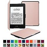 Fintie Amazon NEW-Kindle Paperwhite (2015) と Kindle Paperwhite (第6世代) カバー 最も薄く、最軽量の保護 レザー ケース マグネット機能搭載【Kindle Paperwhite All Generation専用】(ローズゴールド)